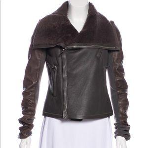 Rick owens shearling jacket